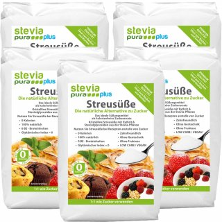 Scatter Sweetness steviapuraPlus | the sugar substitute with erythritol and stevia - 5kg