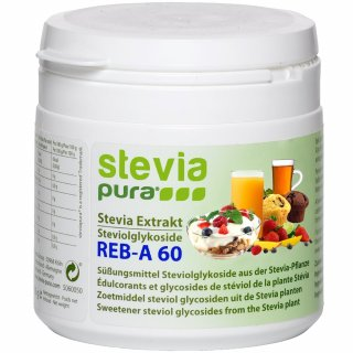 Zuiver hooggeconcentreerd stevia-extract - 95% steviolglycosiden - 60% rebaudioside-A - 50g | incl. doseerlepel